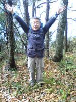 佐柳島のピークでバンザイ2