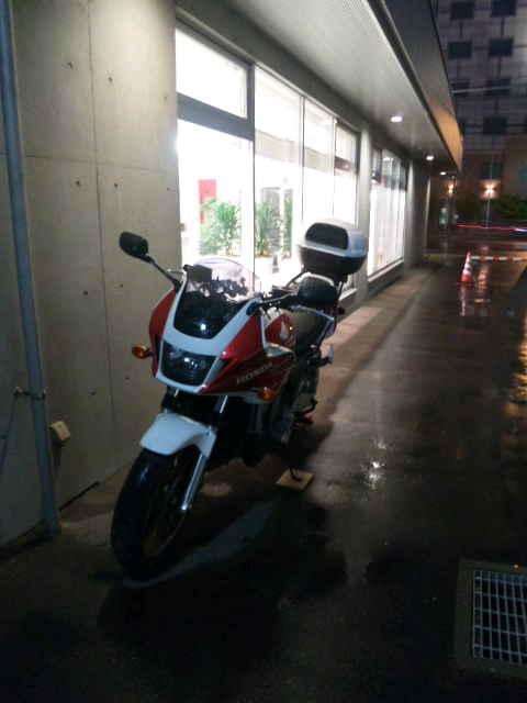 バイクの駐車