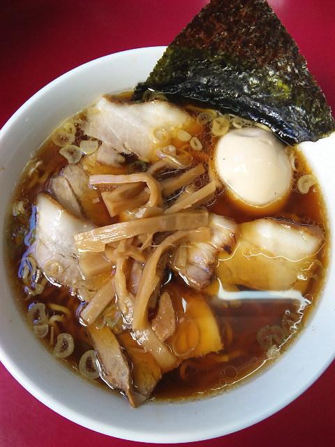 チャーシューメン+煮玉子@笹舟