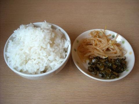 麺や力・ライス&漬物