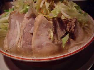 重厚煮干中華そば大ふく屋 上野店 野郎ラーメン【大盛+野菜マシマシ+アブラ】(豚)