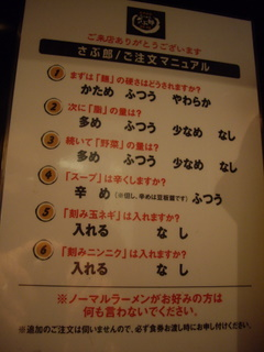 らぅめん さぶ郎 五反田店 無料トッピング