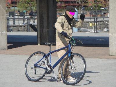 自転車のおじさん