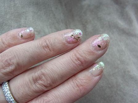 ネイル桜 (3)
