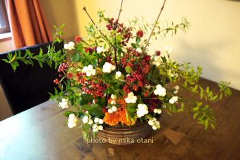 額賀先生にあげた花