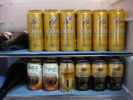 ビールばかり。