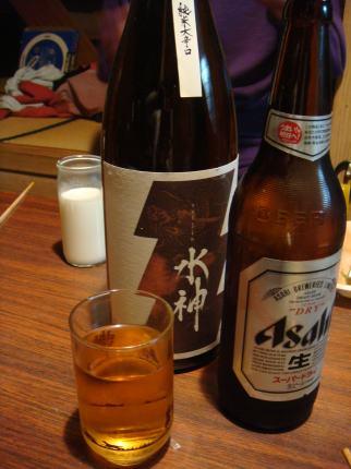 ビールと日本酒と焼酎