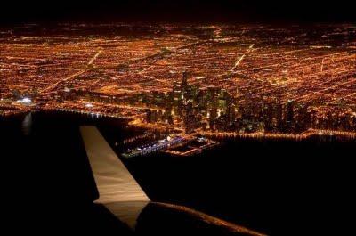 飛行機から夜景1