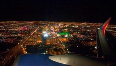 飛行機から夜景2