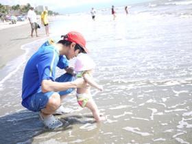 15日 初めての海