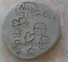 陶芸作品花びらトリミング