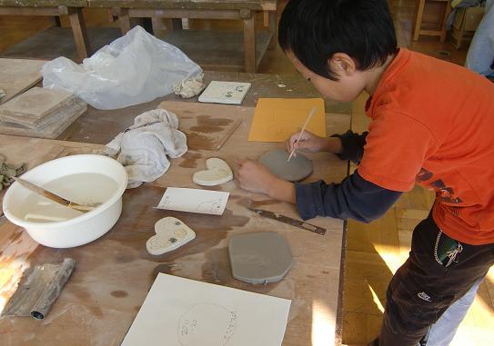 陶芸線画男子
