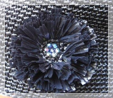 エコアンダリヤのコサージュ 黒