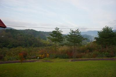 キャンプ場は山の中に