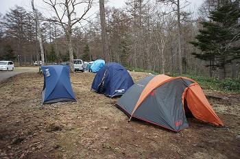 テント設置完了。