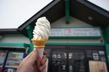 佐久平P.A.のソフトクリーム