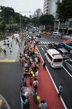 渋谷にて反原発のデモ