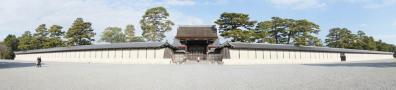京都御所の門:パノラマにて