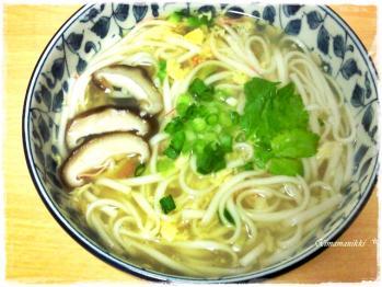 スープでうどん完成☆
