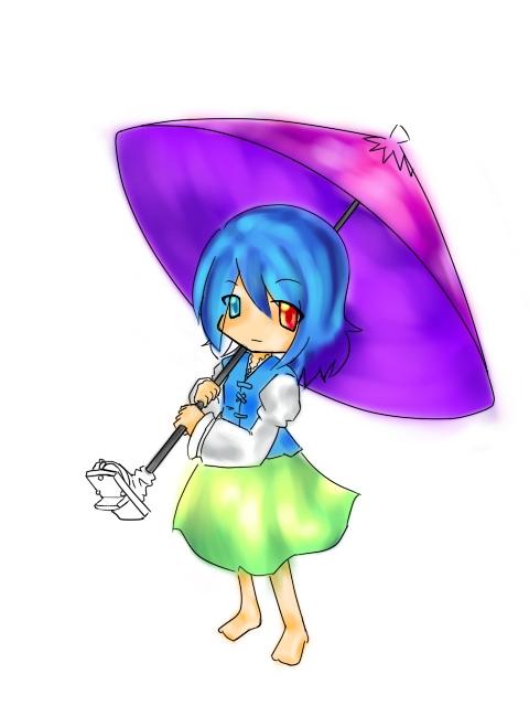 子傘、塗らせていただきました^^a