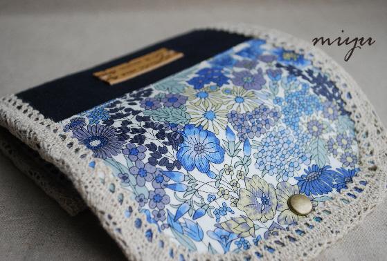 ミニ財布(マーガレットアニー×ネイビー)3
