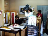 富山テレビ取材