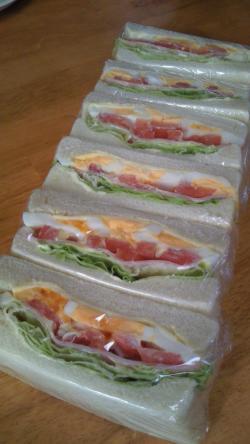 朝食サンド♪