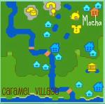 キャラメル村の地図