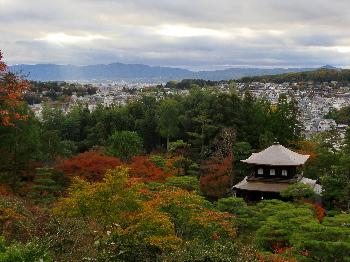 丘から見る銀閣寺