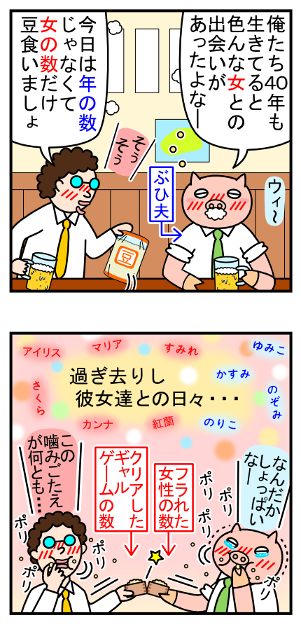 4コママンガ_No.20「男たちの節分」_2