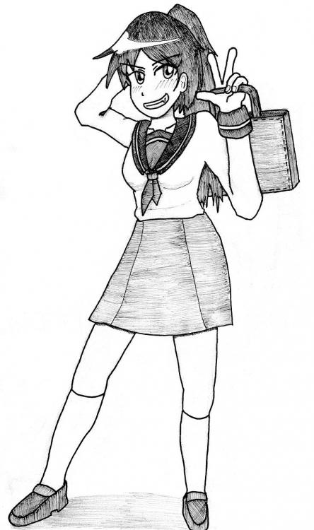 勝気の可愛い女の子を描いたつもりなのにあんまり可愛くない件