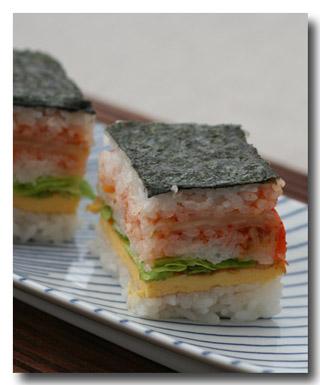 キムチで押し寿司