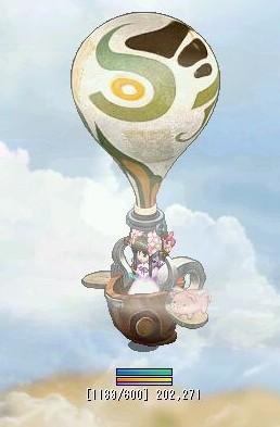 おはな 気球に乗る
