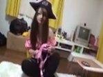 『 無修正動画 』 海賊コス少女の自宅で女海賊をハメる!