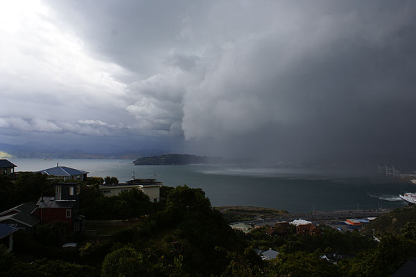 Fierce storm in Wellington