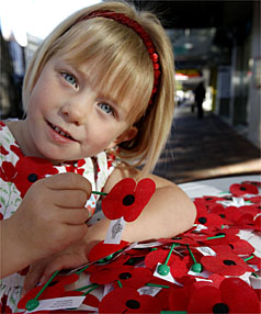 Poppy Ford, four, is the perfect ambassador for Poppy Day.