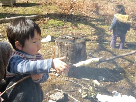 森のたね 森と寺子屋のようちえん2011年2月4