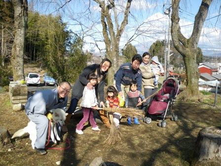 森のたね森と寺子屋のようちえん2011年2月