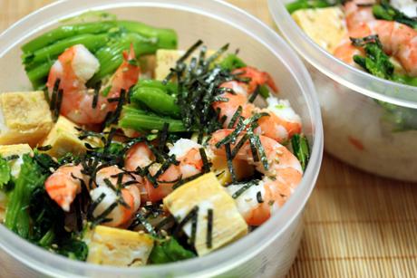エビと菜の花のちらし寿司