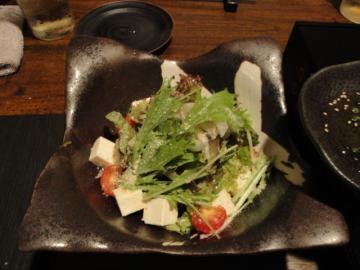 紅月 水菜と豆腐のサラダ