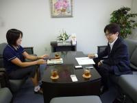宮崎先生と三宅記者