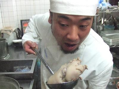 豚足と料理長