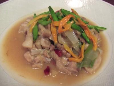 賞味会14水郷地鶏の香味揚げ煮