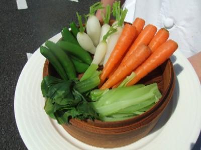 2010_0521自家菜園蒸し野菜