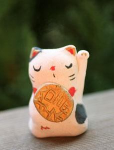 益子焼 招き猫