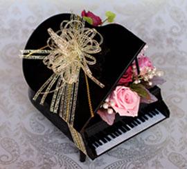 ピアノのプリザーブドフラワーアレンジ2s