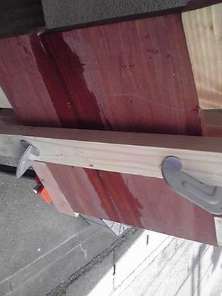 古木 板接ぎ タイトボンド3 ボンド跡
