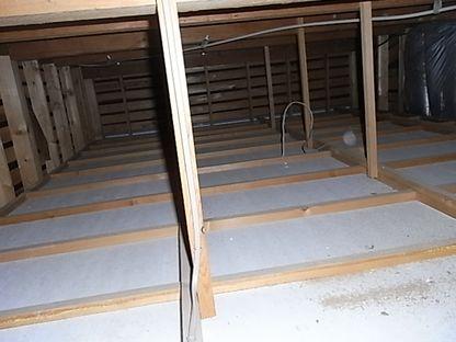 自宅ガレージ 工房化 天井裏 スペース