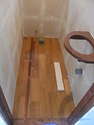 トイレ フローリング張り チーク材