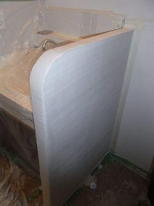 壁塗りDIY 波模様 ホウキ仕上げ イメージ
